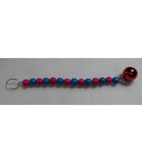 Jouets pour oiseaux Jouet perles en rouge et bleu Chez Anilou 6,00€