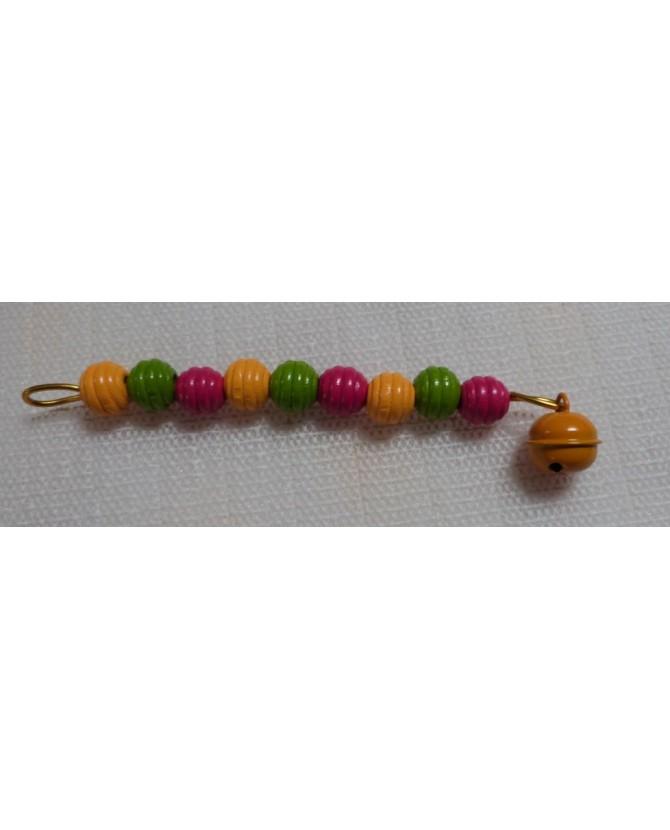 Jouets pour oiseaux Jouet perles en rouge, vert et jaune Chez Anilou 4,00€