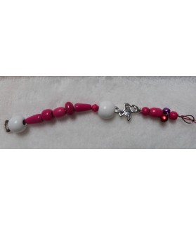 Jouets pour oiseaux Jouet perles en rose et blanc Chez Anilou 4,00€