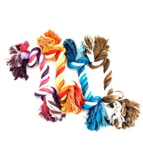 jouets noeuds pour chien Jouet chien corde 2 noeuds mutlicouleur Martin Sellier 7,00€