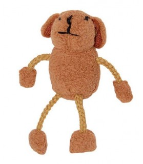jouets canins mous Jouet chien Petit Ours Brun  5,00€