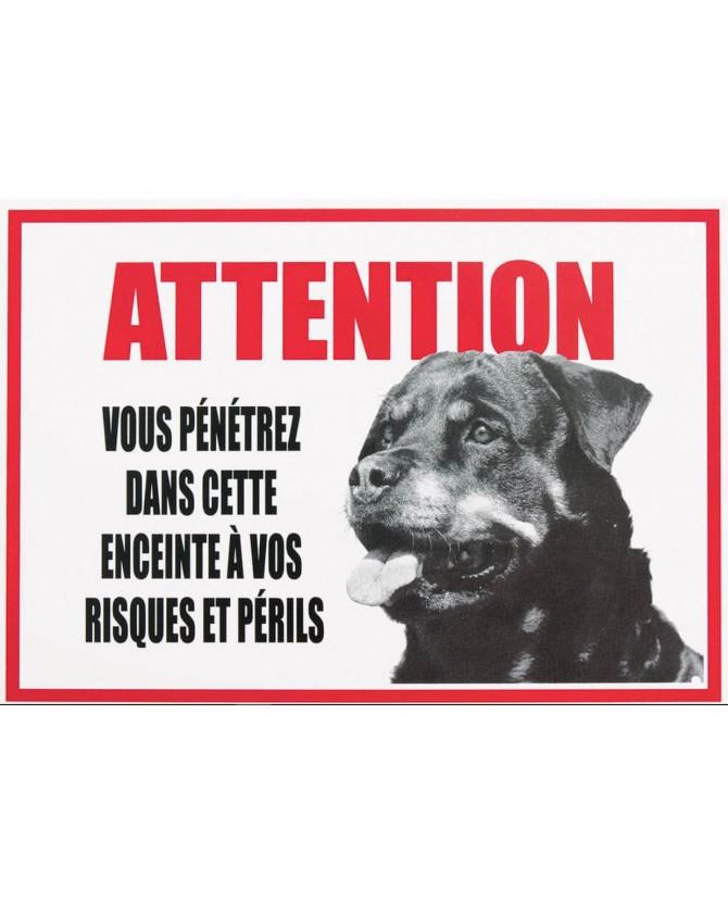 "Pancarte Rottweiler ""je monte la garde"" Plaque de garde Rottweiler Martin Sellier 7,50€"