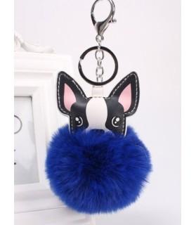 Porte-clés Porte-clés Chihuahua en cuir et pompon  5,00€