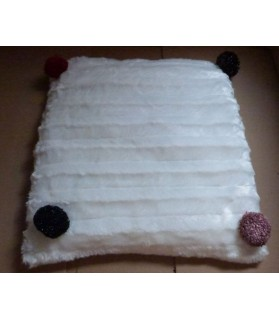 Couchages chat couchage chat - Coussin pour chat blanc et rouge Aurore Chez Anilou 12,00€