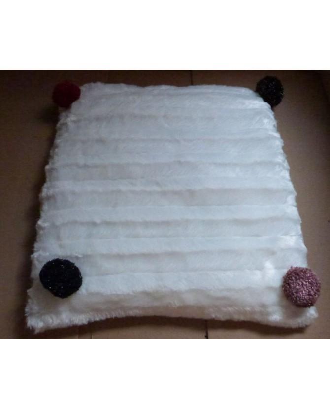 coussins pour chat couchage chat - Coussin pour chat blanc et rouge Aurore Chez Anilou 12,00€