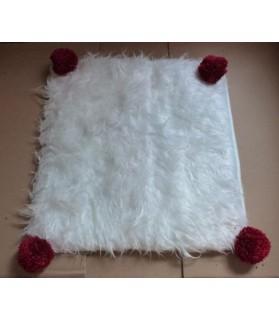 coussins pour chat couchage chat - Coussin chat blanc et rouge Polux Chez Anilou 12,00€