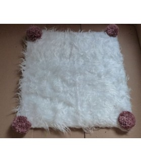 Couchages chat couchage chat - Coussin chat blanc et rose Romance Chez Anilou 12,00€