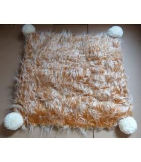Couchages chat couchage chat - Coussin pour chat marron et blanc Chifouni Chez Anilou 12,00€