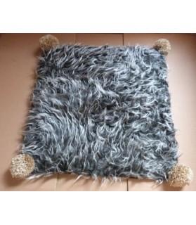 Couchages chat couchage chat- Coussin pour chat gris et marron Bichette Chez Anilou 12,00€