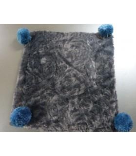 Couchages chat couchage chat - Coussin pour chat gris et bleu KIRIOL Chez Anilou 12,00€