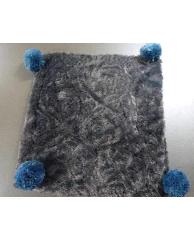 coussins pour chat couchage chat - Coussin pour chat gris et bleu KIRIOL Chez Anilou 12,00€