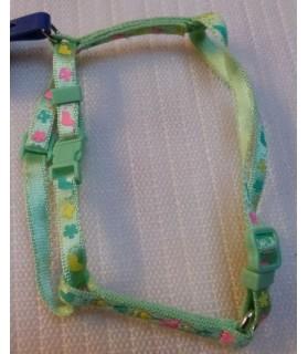 Harnais en H Harnais vert Coeur Fleur pour petit chien ou chat Mutli-marques 7,00€