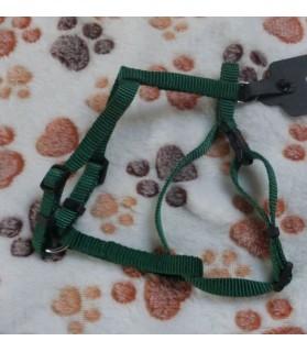 Harnais petits chiens Harnais vert classique pour petit chien ou chat  7,00€