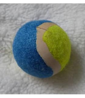 Jouets chat à lancer jouet chat balle jaune et bleu  1,00€