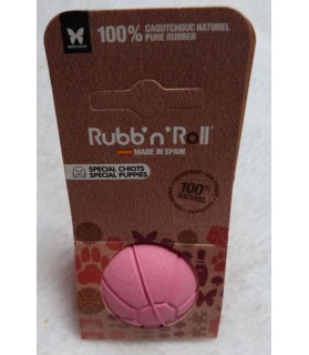 balles pour chien jouet chiot - Balle dure pour chiot Style Volley Rubb'n'Roll 6,00€