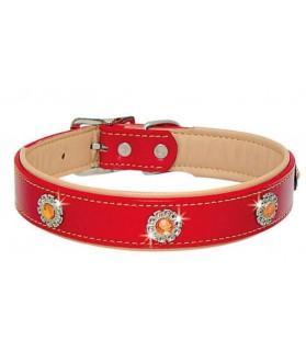 Colliers simili et cuir Collier pour chien en cuir - Citrine - rouge VIVOG 12,00€