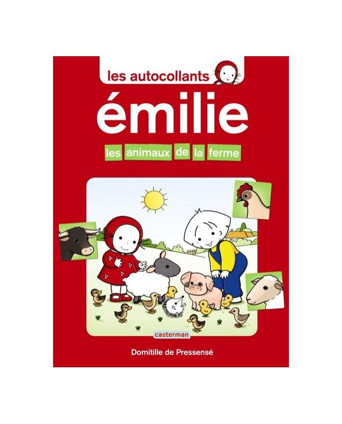 Emilie, les animaux de la ferme - autocollants - Casterman