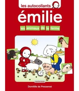 librairie animaux Emilie, les animaux de la ferme - autocollants - Casterman  3,95€