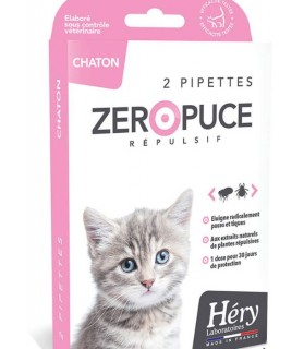 antiparasitaires chat Pipette chaton Zéro Puce Héry 1mlx2 Laboratoire Héry 7,00 €