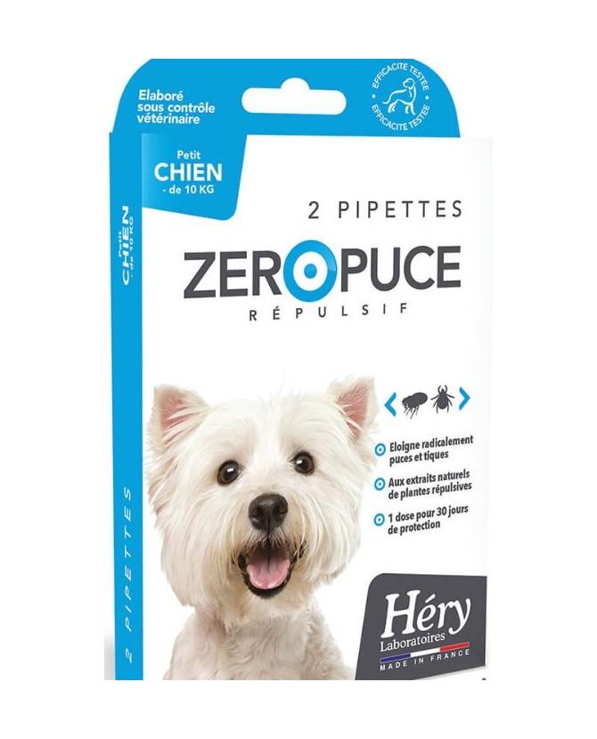 antiparasitaires canins Pipettes Répulsives puces et tiques pour petit chien Laboratoire Héry 7,00€