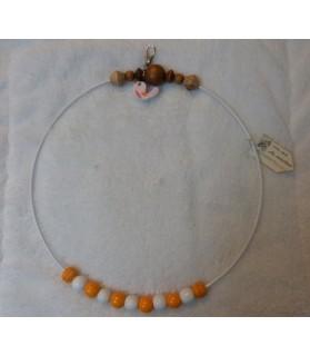 Perchoirs Perchoir pour grands oiseaux serti de perles en bois naturel - ChezAnilou Chez Anilou 17,00€