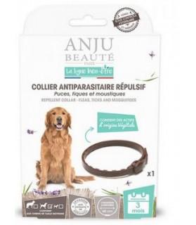 collier antiparasitaire répulsif puces, tiques et moustiques chien moyen Anju Beauté