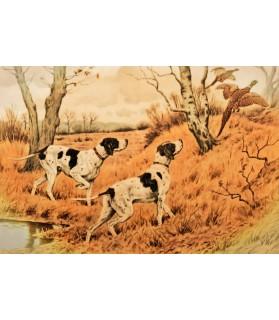 Peintures thème chasse Poster L'envolé des faisans Chez Anilou 17,00€