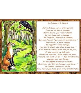 Poster Le corbeau et le renard de Jean de La Fontaine