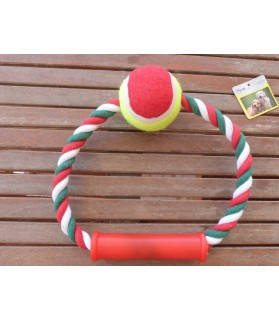 balles pour chien Jouet chien demi-cerceau noeud et balle pour chien Mutli-marques 7,00€