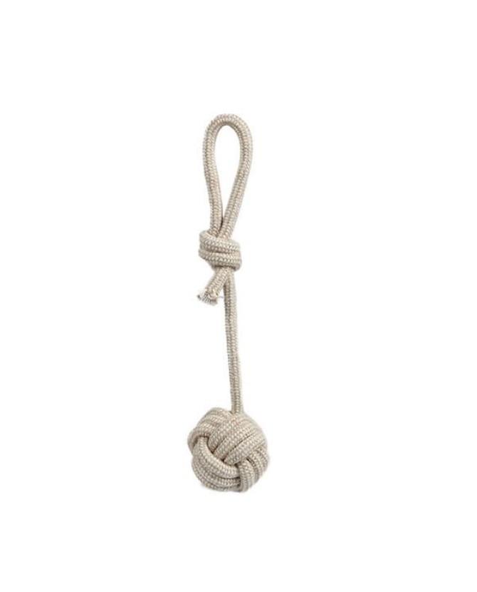 Jouets chien à lancer jouet chien - Corde noeud avec balle VIVOG 8,00€