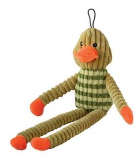 jouets canins sonores jouet chien canard sonore vert et orange  9,00€