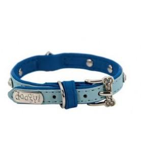 Colliers simili et cuir Collier chien simili cuir Pretty bleu étoile T1 Doogy 8,00€