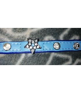 Colliers simili et cuir Collier chien simili cuir Pretty bleu étoile T2 Doogy 9,00€