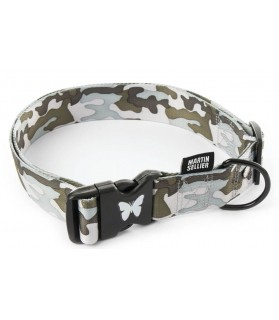 Colliers nylon collier chien reglable style camouflage gris ou vert Martin Sellier 8,00€