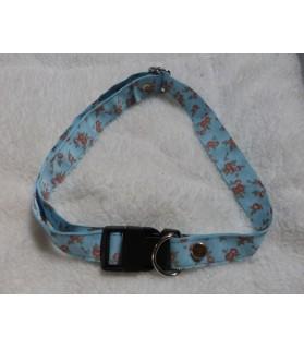 Colliers pour chien ou chiot Collier chien reglable fleur bleu ChezAnilou Chez Anilou 10,00€