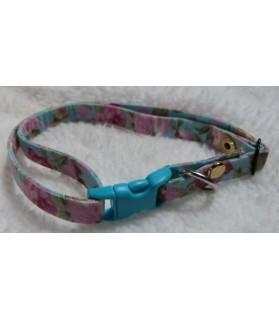 Colliers nylon collier chien chic petites fleurs roses Chez Anilou 6,00€