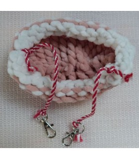 Couchages rongeurs couchage rongeur - hamac ChezAnilou rose et blanc  6,00€