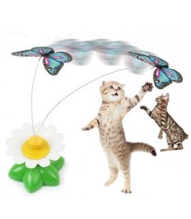 Jouets d'éveil pour chat Jouet chat fleur à papillon electronique  5,00€