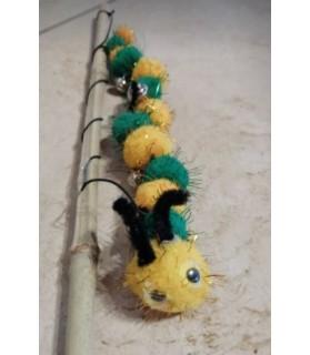 jouets chat jouet chat - canne avec mille patte jaune et vert Chez Anilou 7,00€