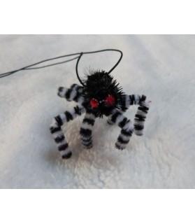 Canne à chat Jouet chat - araignée Zebre suspendue Chez Anilou 5,00€