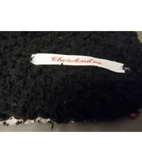 coussins pour chat couchage chat- coussin chat rose et noir Chez Anilou 14,00€