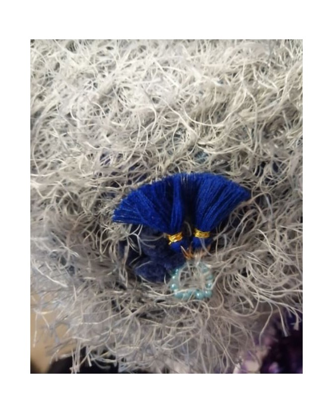 coussins pour chat couchage chat - coussin chien imperméable gris et bleu Chez Anilou 14,00€