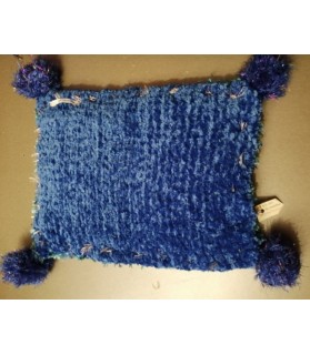 Couchages chat couchage chat - coussin vert et bleu Os blanc  14,00€
