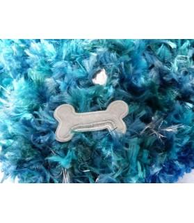 coussins pour chat couchage chat - coussin vert et bleu Os blanc  14,00€