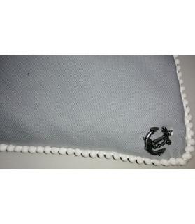 Coussins pour chien ou chiot Coussin chien dehoussable et imperméable gris Chez Anilou 32,00€