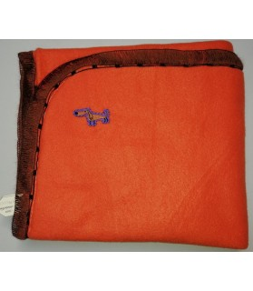 Tapis pour chien ou chiot Tapis chien orange molletonné double épaisseur Chez Anilou 12,00€