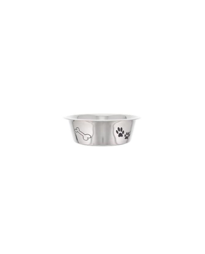 Gamelles Inox pour chien ou chiot Gamelle inox motif pattes et os  5,00€