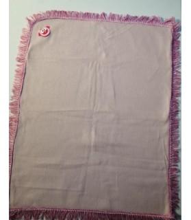 Tapis pour chien ou chiot Tapis chien rose molletonné liseré rosée 80 x 62 cm Chez Anilou 12,00€