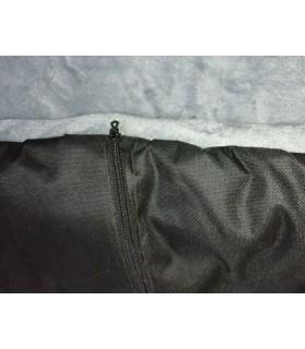 Coussins pour chien ou chiot Coussin pour chien de voyage Gris et noir 90x65 cm Chez Anilou 27,00€