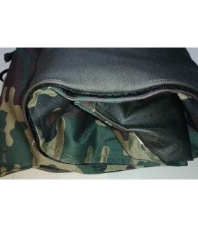 Coussins pour chien ou chiot Coussin pour chien de voyage camouflage et noir 92x65 cm Chez Anilou 24,00€